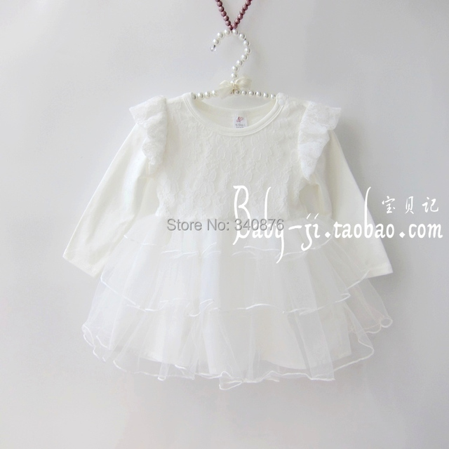 e15df10b97f8a baby white formal party dress with nice lace