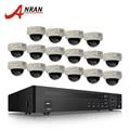 ANRAN 16CH NVR CCTV sistema 6 TB HDD 1080 p HD H.264 al aire libre Kit de vigilancia a prueba de vandalismo de red domo cámara IP POE sistema
