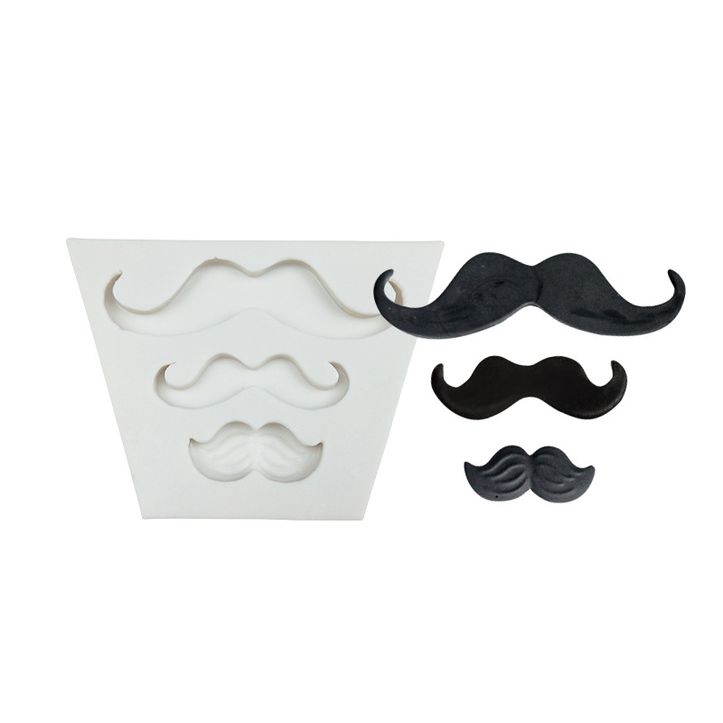 3 Even Beard Shape Silicone Cake Decorating Tools 3d Mustache Shaped Chocolate Mold Creative Candy Fondant Molds