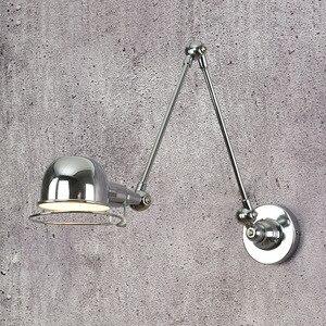 Image 3 - לופט בציר תעשייתי jielde ארוך זרוע מתכוונן מנורת קיר זכרונות נשלף E14 LED קיר אורות לחדר שינה סלון