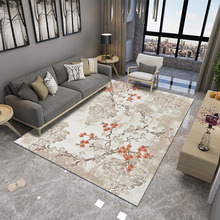 Chinese Style Art Carpet Home Soft Bedroom Sofa Coffee Table Floral Rug Study Room Floor Mat Decor For Living