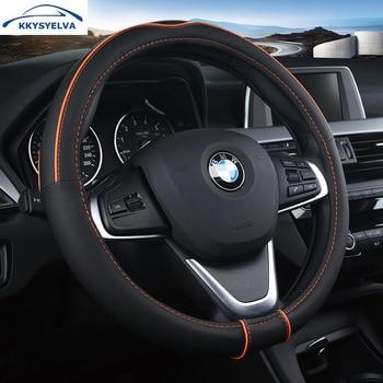 kkysyelva universele auto stuurhoes lederen stuurwiel covers auto wielen auto interieur accessoires