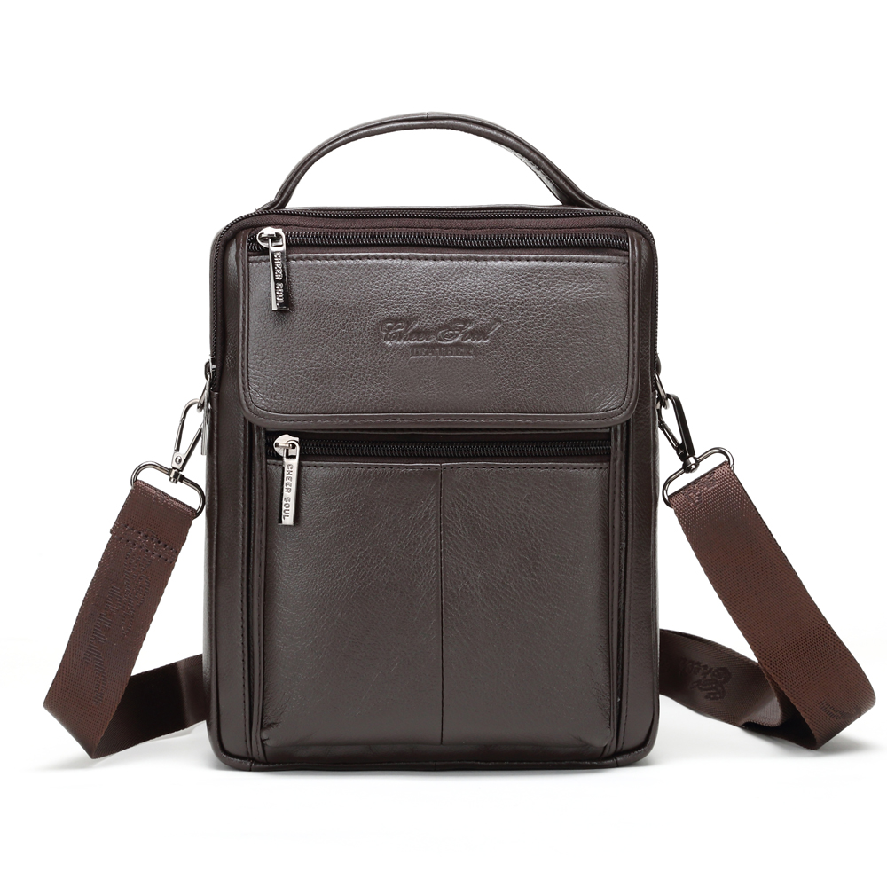 CHEER SOUL Genuine Leather Bags for Men Travel Messenger Bags Male Small Flap Casual Crossbody Shoulder Bag Handbags Cowhide cheer soul brand 2018 new handbags women bags genuine leather fashion handbags casual messenger bag large capacity shoulder bag