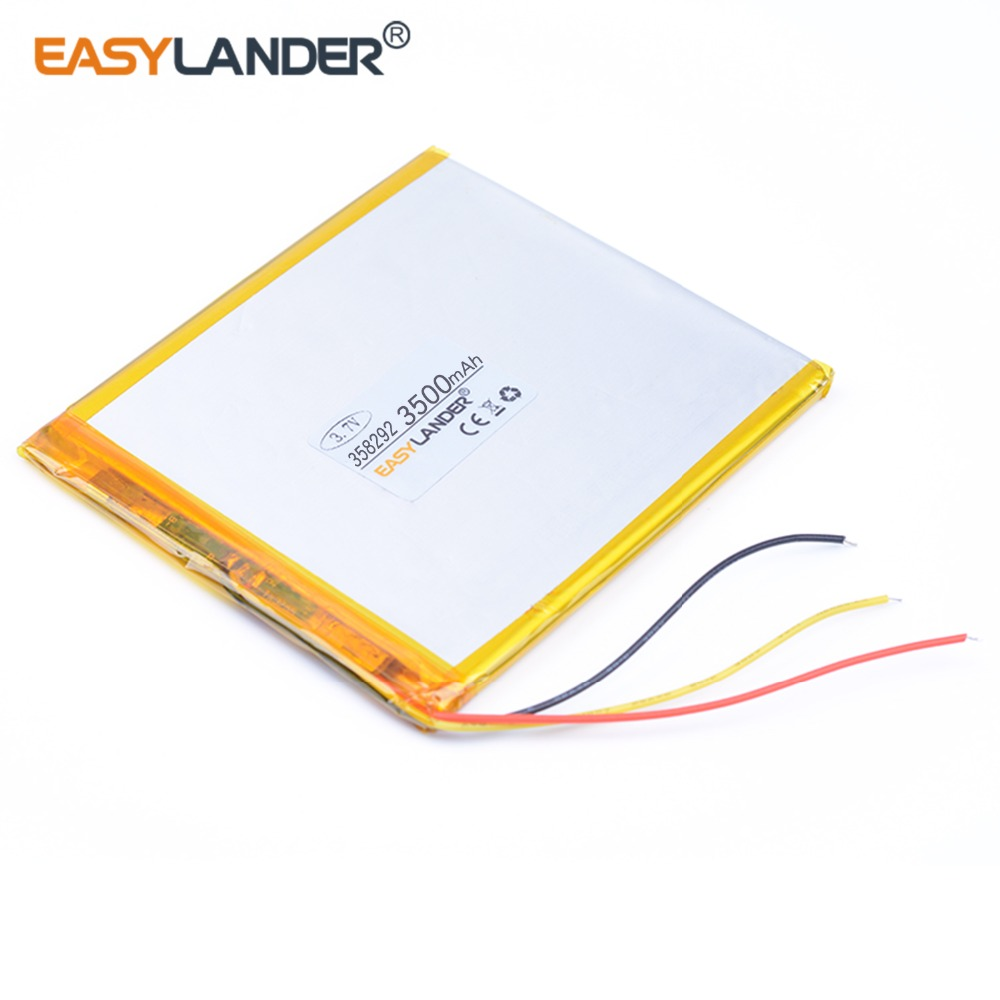 Three lines 3.7V polymer lithium battery <font><b>318292</b></font> 3500mah Liter energy battery for mobile power 7 inch tablet MID common type image