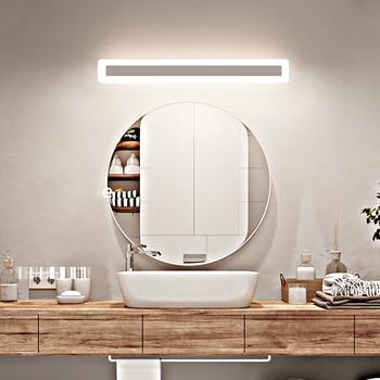 Minimalista e moderno conduziu a lâmpada de alumínio lâmpada de cabeceira lâmpada de parede espelho do banheiro luz ac110 ac260 v conduziu a luz de parede 40/60/80/100 cm