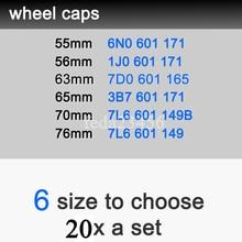 20x 6N0601171 1j0601171 3B7601171 7L6601149 7L6601149B 7D0601165 Wheel center hub Caps Wheel Accessories Car Wheel Rim Covers
