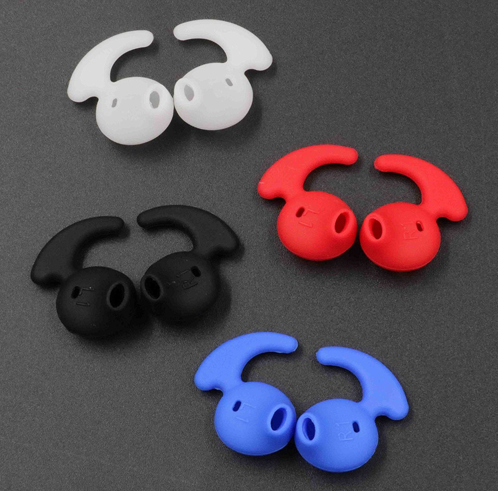 4 Pair (white/black/red/blue) Silicone Earbud Ear Tips For Galaxy S7edge S7 S6edge, Samsung Level U Eo-bg920 Bluetooth Earphone Beautiful And Charming