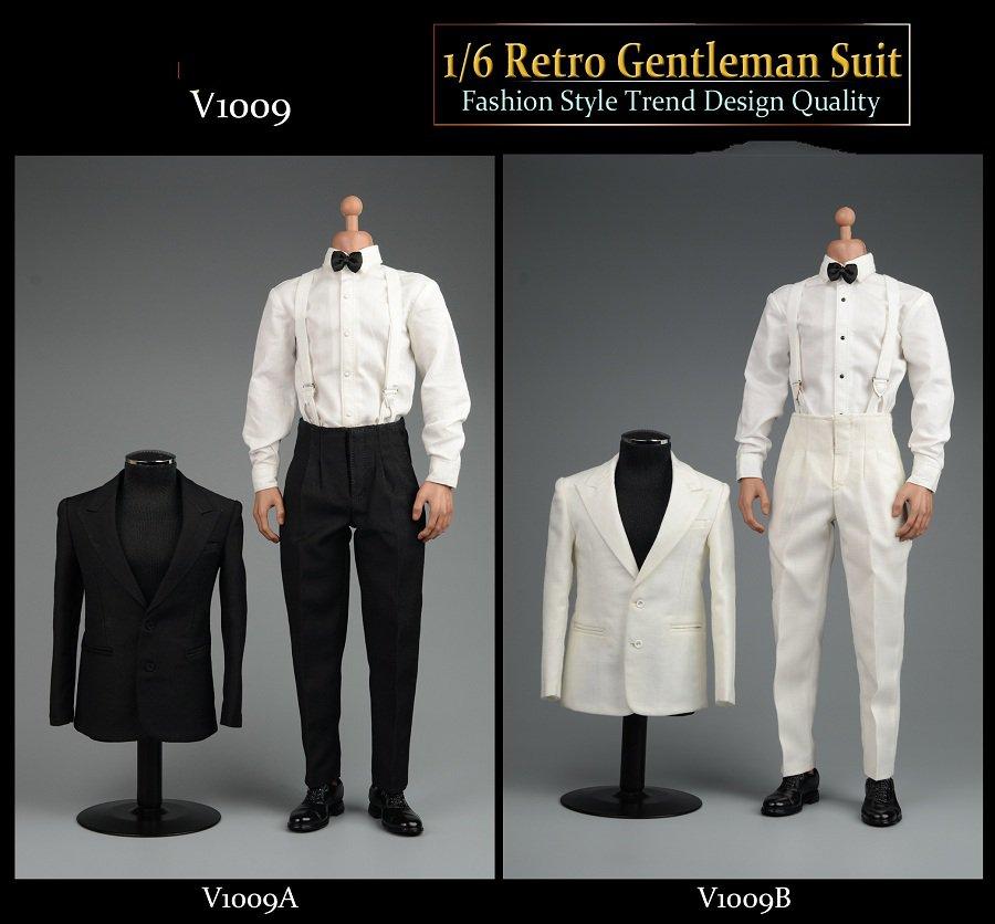 "VORTOYS 1//6 Black Uomo Gentleman Suit Abbigliamento Set F//12/"" MASCHIO Action Figure"