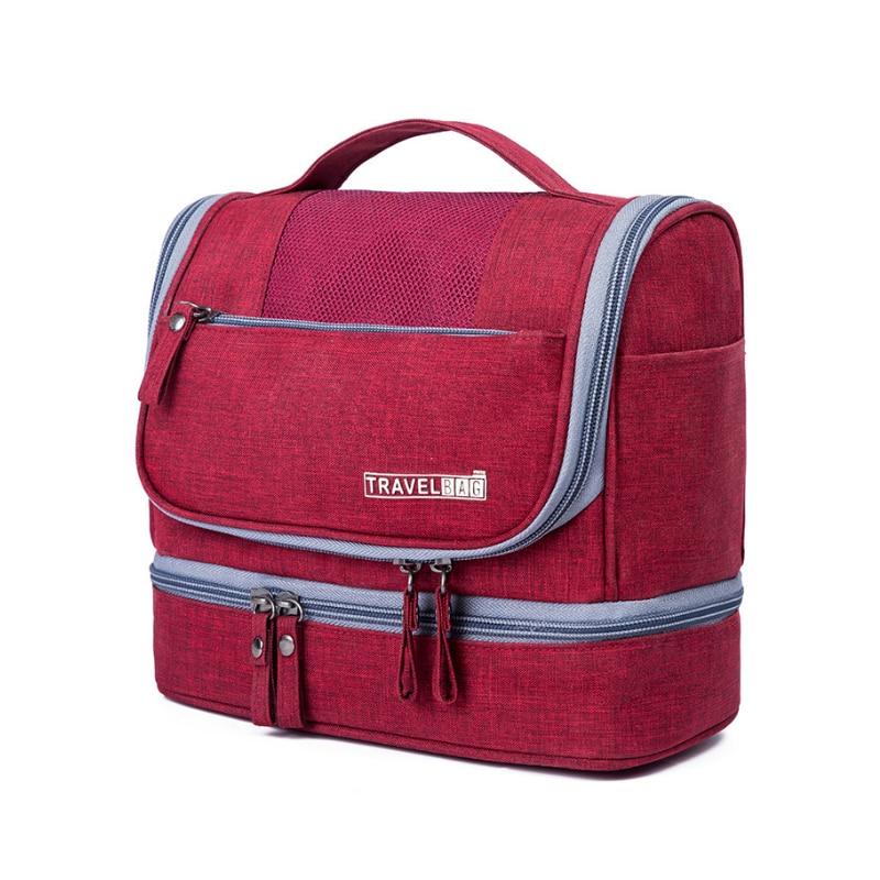 Portable Women Cosmetics Cases Toiletry Bag Travel Organizer Unisex Hanging Makeup Bag Travel Make Up Kit