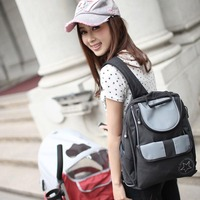 Fashion Big Capacity Baby Diaper Backpack Anti Microbial Baby Nappy Changing Bag Bolsa Maternidade