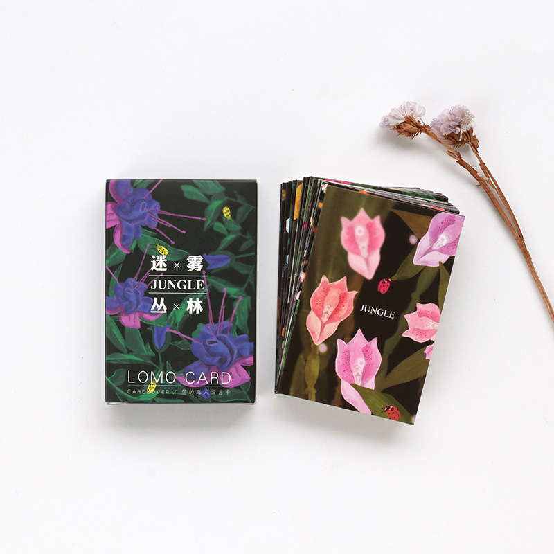28 Sheets/Set  Jungle  Mini Lomo Postcard /Greeting Card/Birthday Letter Envelope Gift Card Message Card