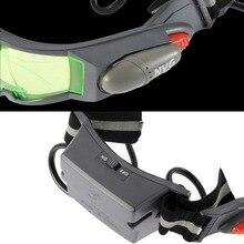 1Pcs Glasses eyeshield Green Lens Adjustable Elastic Band Night Vision Goggles