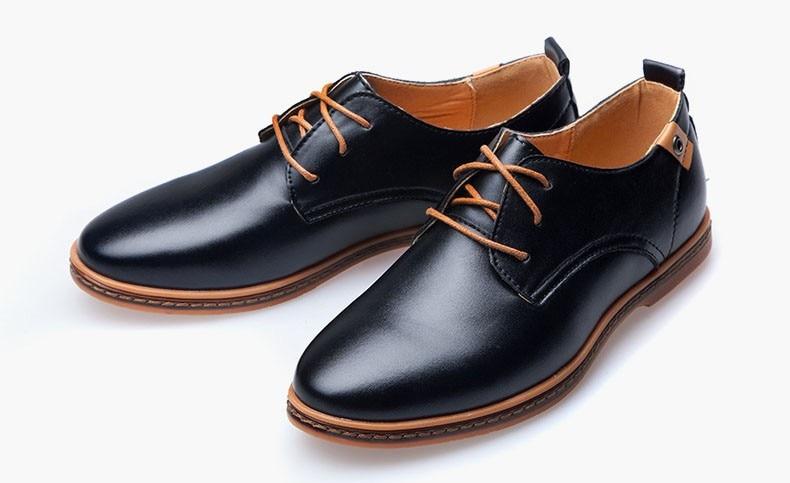 Hot Sale New oxford Casual shoes Men Fashion Men Leather Shoes Spring Autumn Men Flat Patent Leather Men Shoes WGL-K03-1 10
