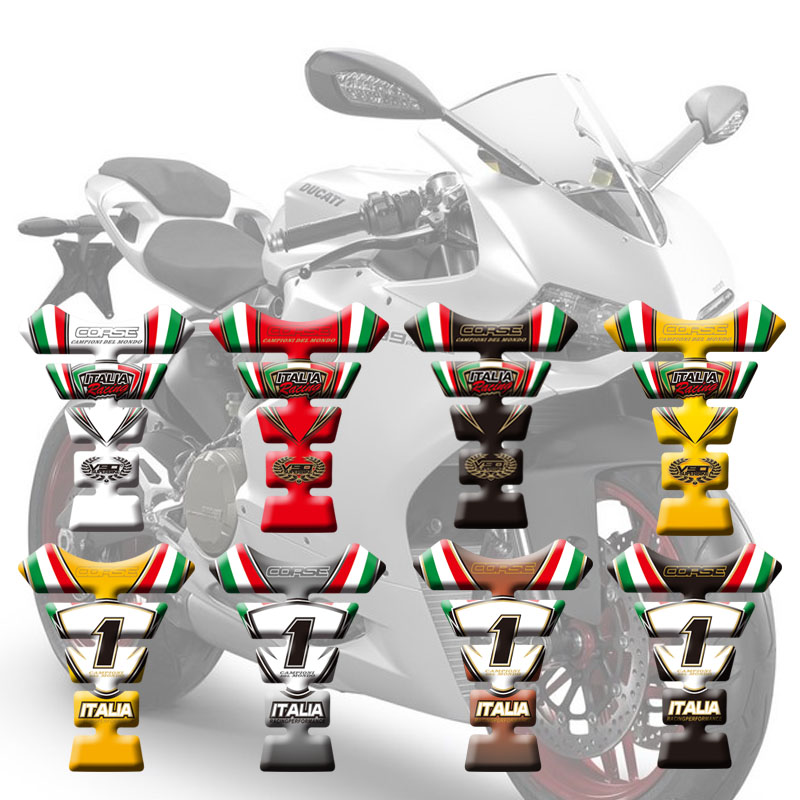 New Motorcycle Stickers Fuel Tank Sticker Fishbone Protective Decals For Ducati Hypermotard 796 1100 07-12 2008 2009 2010 2011