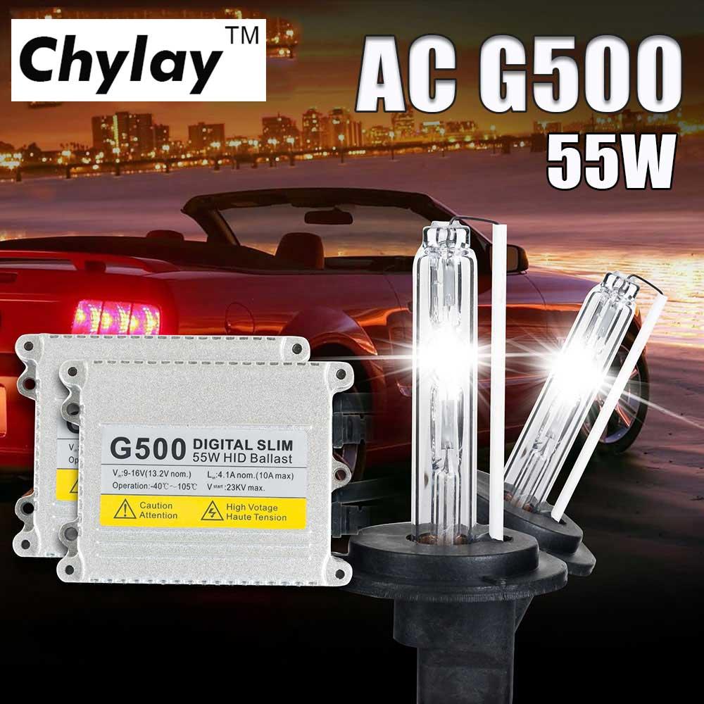 Avtomobil dəsti lampası H3 H8 HB3 HB4 881 HID Xenon Kit 4300K 6000K 8000K üçün 1 H4 Xenon H7 H1 D11S G500 Silm Rəqəmsal Ballast.