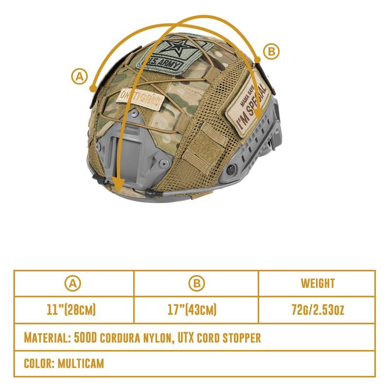 OneTigris тактический MultiCam шлем Крышка для опс-core быстро PJ шлем и OneTigris PJ Шлемы