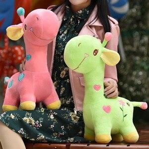 Image 3 - Lalka żyrafa pluszowa zabawka jeleń poduszka poduszka dziecięca
