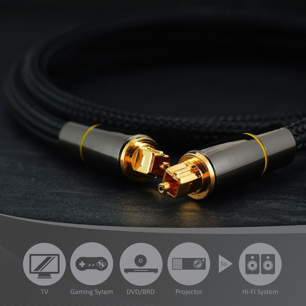 Audio Cable Optical Line for TV DVD Projector Amplifiers to HI-FI System Digital 1m 1.5m 2m 3m Sound Fiber Optical Cable Toslink