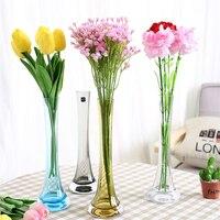 Modern Creative colorful Glass Vase Iron tower Vase Stained glass Transparent Vases Home Wedding Decoration Vase