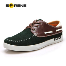 SERENE Men's Loafers Suede Leather Boat Shoes Business Casual Flats Breathable Slip-on Men Shoes Comfortable Driving Shoes 6206