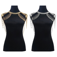 Women Full Shoulder Multilayer Body Chains Harness Tassels Necklace Jewelry Smt 263