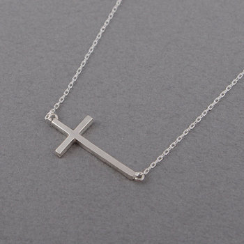 30 New Blessing amulet Sideways Cross Necklace Cute Cool Christian Cross Necklaces Simple Tiny Faith Religious Necklace jewelry