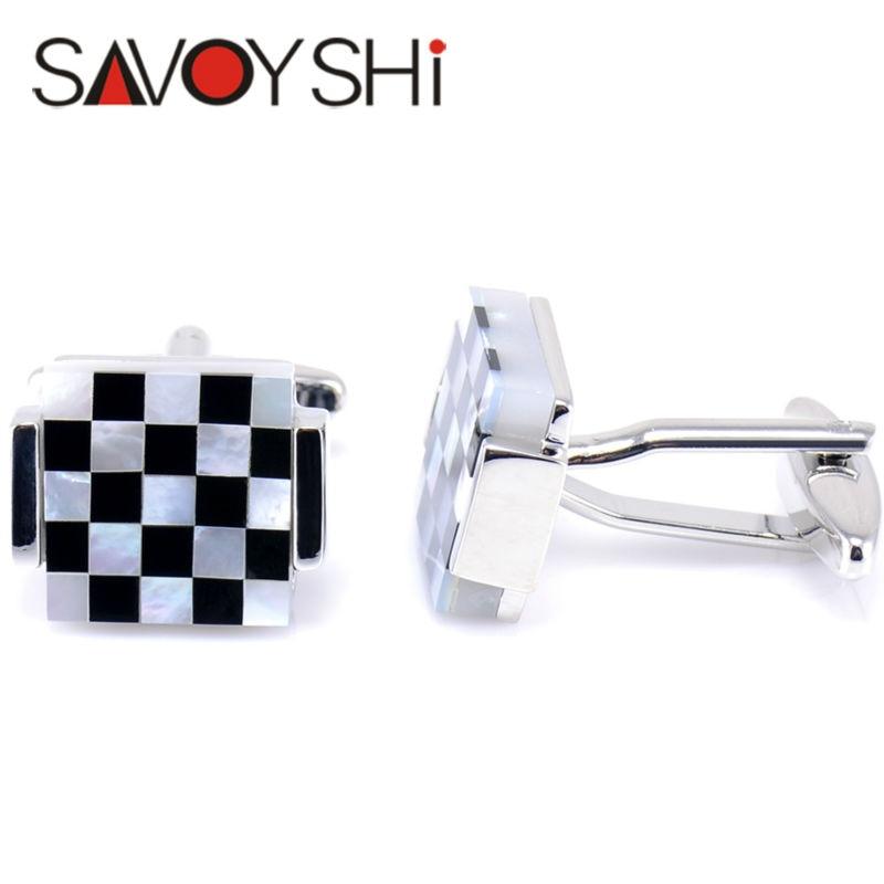 """""""SAVOYSHI"""" prabangūs kvadratiniai rankogalių segtukai vyrams - Mados papuošalai - Nuotrauka 4"""