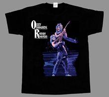 OZZY OSBOURNE RANDY RHOADS BLACK SABBATH NEW SHORT SLEEVE T-SHIRT O Neck T Shirts Male Low Price Steampunk Top Tee