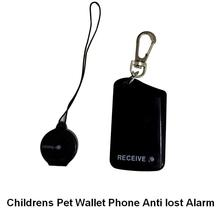 Safely Security mini burglar alarm Two Parts Vibration Purse To Rob Childrens Pet wallet Anti Lost Alarm Black with battery