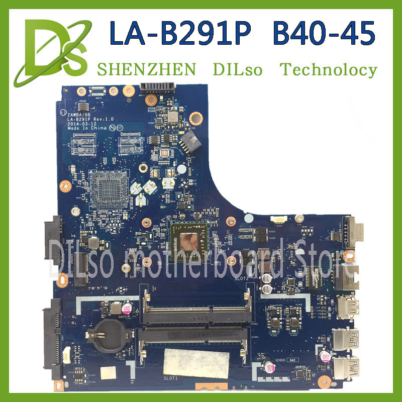 KEFU ZAWBA/BB LA-B291P motherboard for Lenovo B40-45 laptop motherboard original mianboard with CPU Test KEFU ZAWBA/BB LA-B291P motherboard for Lenovo B40-45 laptop motherboard original mianboard with CPU Test