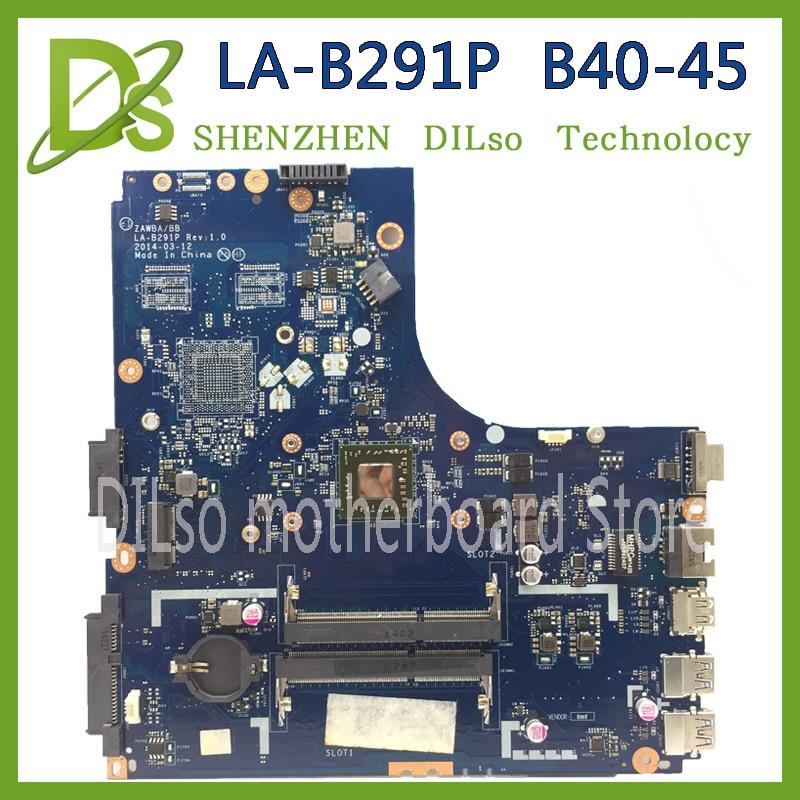 KEFU ZAWBA/BB LA-B291P motherboard for Lenovo B40-45 laptop motherboard original mianboard with CPU tested msi original zh77a g43 motherboard ddr3 lga 1155 for i3 i5 i7 cpu 32gb usb3 0 sata3 h77 motherboard