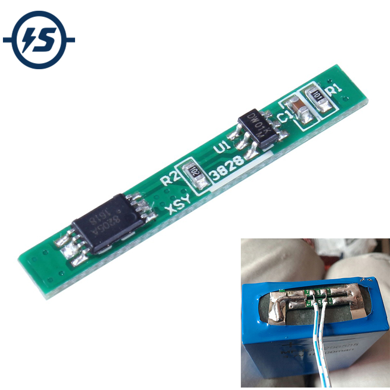 BMS <font><b>1S</b></font> Lithium <font><b>Battery</b></font> <font><b>Protection</b></font> <font><b>Board</b></font> 10pcs PCM PCB Polymer Over Charge Discharge Li-ion Protect Module Over <font><b>Board</b></font> 3.7V 2.5A image