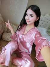 hot sale  female autumn  sleepwear  twinset sexy  and large size women lounge luxury high-grade brand designer-b23