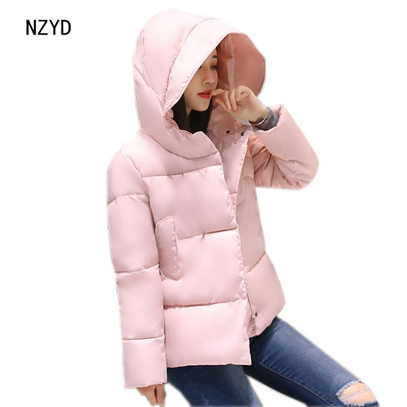 2017 Women Winter Jacket Down New Fashion Hooded Thickening Warm Short Cotton Coat Long sleeve Loose Big yards Parkas LADIES249 women winter parkas 2017 new fashion hooded thick super warm short down cotton coat long sleeve loose big yards jacket ladies244