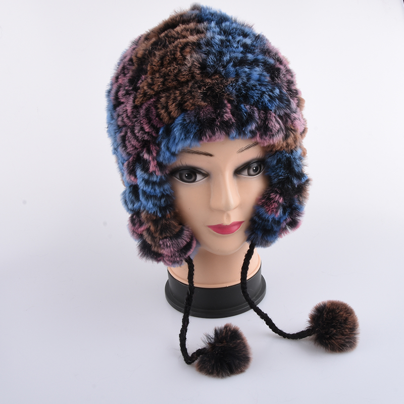 Winter hat  children genuine rabbit fur cap baby thick warm winter Bomber fur hat lovely boy and girl caps good quality baby hat