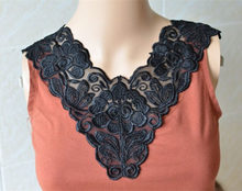 3Pieces Wedding Lace Beautiful Black High Quality Handmade Lace Design Fake  Sewing Neckline DIY Fabric Applique Lace Collar HH64 eee687a4eb7f