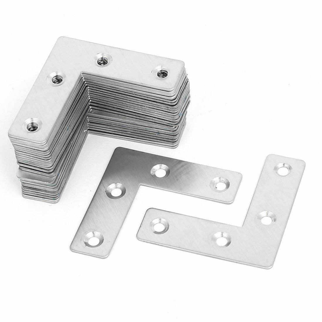 Droit Plat En Acier Inoxydable Brossé 4 Trous Réparation Réparation Fixation Plaque Support