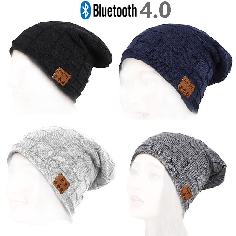 Hot Sale Wireless Bluetooth Music Hat Headphone Headset Earphone With Microphone Winter Sports Cap Stereo Speaker Christmas gift