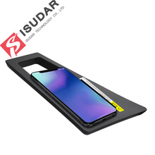 ISUDAR 10W Qi Car Wireless Charger Auto Fast Charging For Audi Q7 2016/2017/2018 for iphone 8 X Samsung Huawei