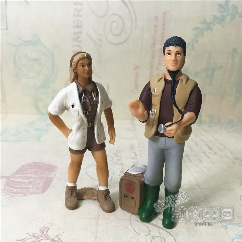 pvc figure Out of Print Characters Animal Model Female VeterinarianMale Veterinary Doctor 2pcs/set