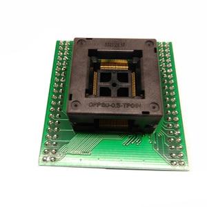Image 3 - Tqfp80 fqfp80 qfp80 para dip80 OTQ 80 0.5 02 queimar no passo do soquete do teste 0.5mm ic tamanho do corpo 12x12mm adaptador de programação soquete zif