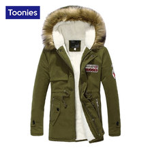 Down Coat Park Winter Jacket for Men 2016 Fashion Letter Hooded Fur Hat Long Coat Jackets Warm Windbreakers Casual Outerwear Top