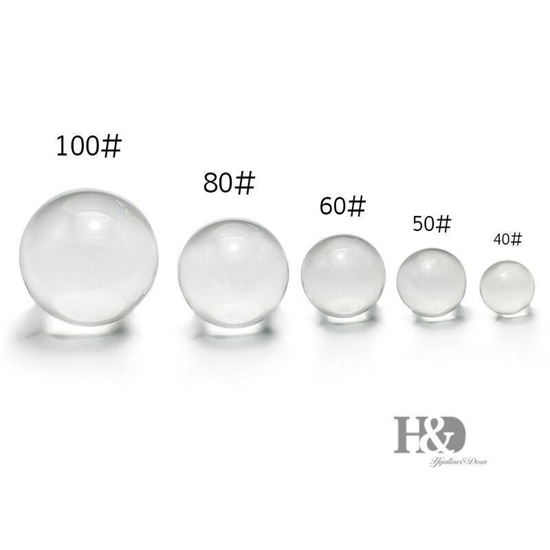 H & D 40-100mm Quarz Kristall Ball mit Kristall Stand Feng Shui Werkzeug Ball & Globus Als display Leistungsstarke Hause/Büro Tisch Dekoration