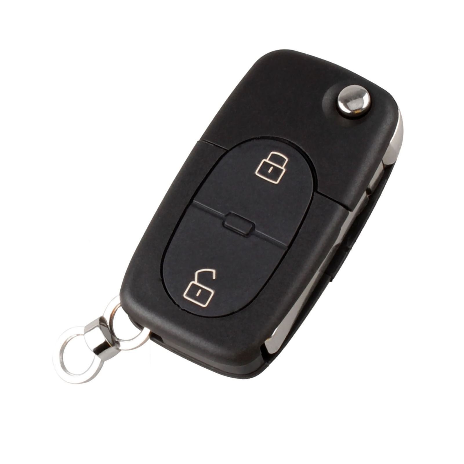 Car Folding Remote Key Fob Case 2 Buttons Replacement Car Key Shell Fit For Audi A2 A3 A4 A6 CR2032 Blank Blade Car Key in Car Key from Automobiles Motorcycles