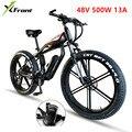 Электрический велосипед 48В 500 Вт  литиевый двигатель 4 0  шина для полных шин  рама из алюминиевого сплава  велосипед SHIMAN0  27  30 скоростей  снег  ...