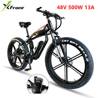 Electric Biike 48V 500W Lithium Engine 4.0 Fat Tire Aluminum Alloy Frame Bicycle SHIMAN0 27 30 Speed Snow Beach E Bike