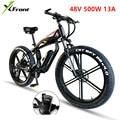 Elektrische Bike 48V 500W Lithium Motor 4 0 Fett Reifen Aluminium Legierung Rahmen Fahrrad SHIMAN0 27 30 Geschwindigkeit Schnee strand E Bike-in E-Bike aus Sport und Unterhaltung bei