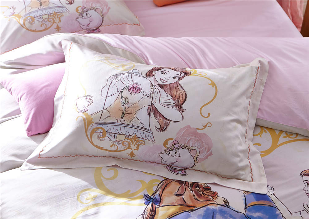 Lenzuola Matrimoniali Walt Disney.Disney Beauty And Beast Bedding Set Queen Size Girl S Couple