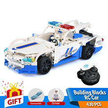 430PCS Building Blocks RC Car Model With Battery 2.4G Remote Control Kits Bricks Apply to Legos Toys Educational Gift for Kids(China)