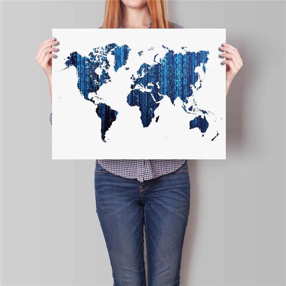 ✅Envío Gratis mundo Mapas cartel pared arte abstracto pintura ...